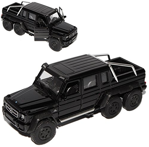 13,5 cm mercancía nueva de Welly Mercedes-benz G-Klasse g63 AMG 6x6 negro aprox