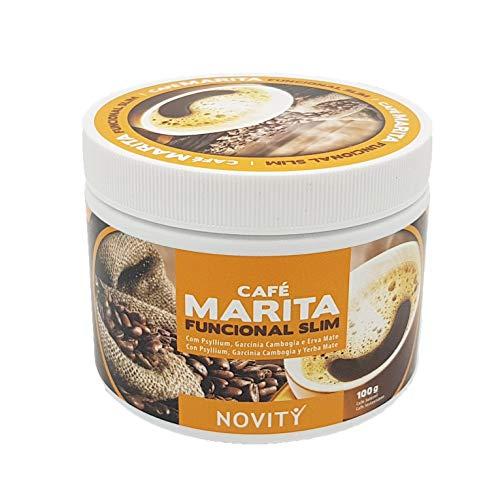 Novity - Café Marita 100g | Quema Grasas Potentes para Adelgazar Rápido | Con Psyllium, Garcínia Cambogia, Guaraná, Café Verde y Yerba Mate.
