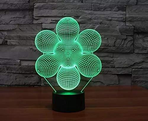 Flores creativas LED multicolor lámpara de mesa de luz nocturna 3D para enviar amigos regalos de Navidad decoración cálida luz de noche 3D interior decoración de regalo de vacaciones lámpara de mesa