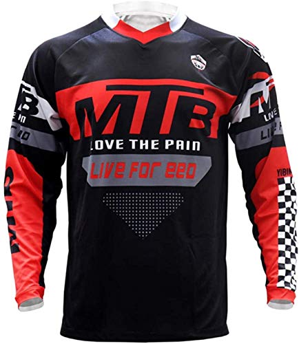 LuggageZHY Maillot MTB Enduro Full Sleeves MTB Jersey Quickdry Motocross Wear BMX Cycling Mountain Bike Clothing Downhill Outdoor Sport T Shirt 4XL