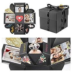 GuKKK Foto Geschenkbox, DIY Kreative Überraschung Box Explosion Box DIY Faltendes Fotoalbum, für Jahrestag, Geburtstag, Hochzeit, Muttertag, Geschenkbox Weihnachten