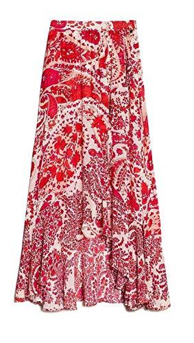 Twin-Set Georgette Druck Cashmere rot Damen Modell 201TP2535, Mehrfarbig 38