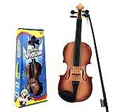 JUNGEN Simulazione Violino Giocattoli per Bambini Giocattoli Musicali Violino Strumenti a Corda Suono Giocattoli Giocattoli educativi