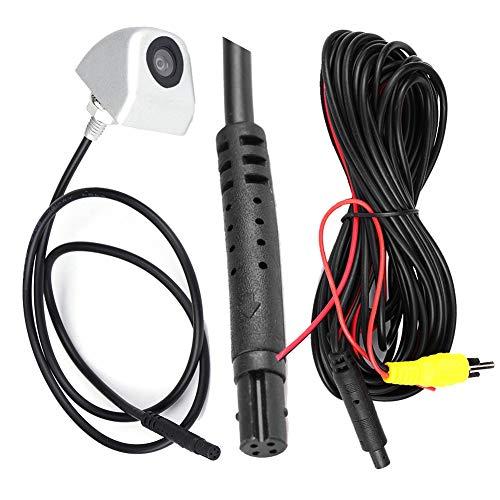 Telecamera per retrovisione per auto, Telecamera per retrovisione per auto CCD Telecamera per retrovisione per parcheggio notturno per visione notturna Impermeabile(Argento)