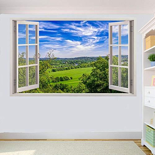 Countryside Fields Scenery Wandaufkleber 3D Art Mural Room Office Shop 80x125cm