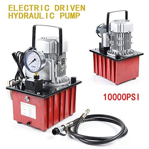 7L 750W 220V Elektrohydraulikpumpe Elektrische Hydraulikpumpe Hydraulikmotor Pumpe Ölpumpe mit Manuelle Ventil