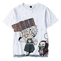 デーモンスレイヤールーズフィットクルーネックTシャツ3 Dプリント半袖シャツ