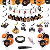 Fun+ ハロウィン 飾り Halloween飾り付け 風船セット パーティー 飾り付け 吊り下げ 装飾 かぼちゃ 写真背景  パーテイー小物30点セット
