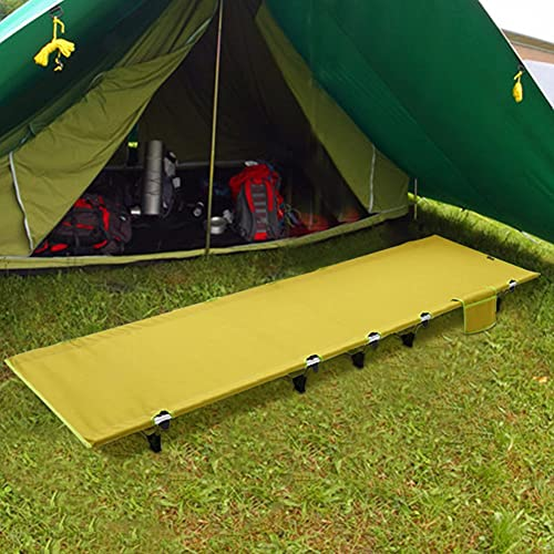 SOBW Matras voor campingbed, outdoor, camping, opvouwbaar, met draagtas, mat voor veldbed, zachte matras om het campingbed op te vouwen