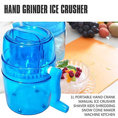 HFKL 1L Tragbare Handbuch Eiswürfelmaschine Ice Crusher Smoothie Maschine Kinder Rasierte EIS Crushed Ice Küchenmaschinen Eiswürfelbereiter