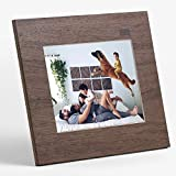 """Aura Digital Photo Frame, 10"""" HD Display, 2048 x 1536 Resolution with Free Cloud Storage, Oprah's Favorite Things List 2018, Wood WiFi Picture Frame"""
