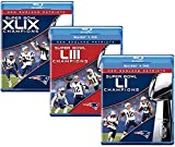 Ultimate NFL New England Patriots 3-Volume Super Bowl Champions Blu-ray Collection: Super Bowl XLIX (49) / Super Bowl LI (51) / Super Bowl LIII (53) [NE Pats SuperBowl Bluray Set]