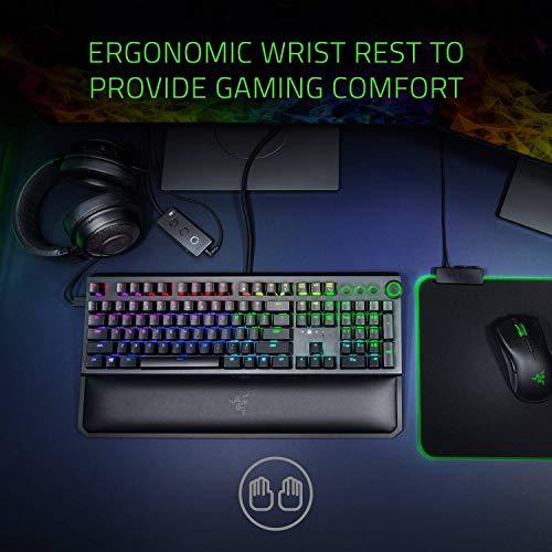 Razer BlackWidow Elite Mechanische Gaming-Tastatur: gelbe mechanische Schalter – linear & leise – Chroma RGB-Beleuchtung – magnetische Handgelenkstütze – Dedicated Media Keys & Dial – USB-Passthrough