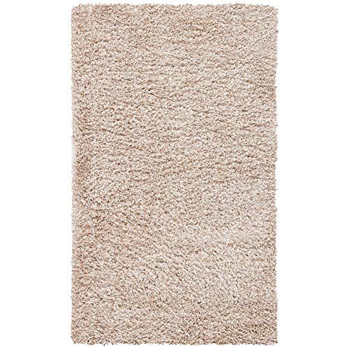 Safavieh California Premium Shag Collection SG151-1313 Area Rug, 8′ x 10′, Beige & Padding Collection PAD121 White Area…