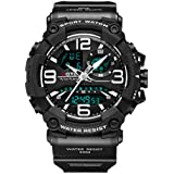 Military Sports Watch, Digital Watches Men Waterproof Luminous Stopwatch Simple Tactical Watch for Men with Large Face and Alarm (Black01)