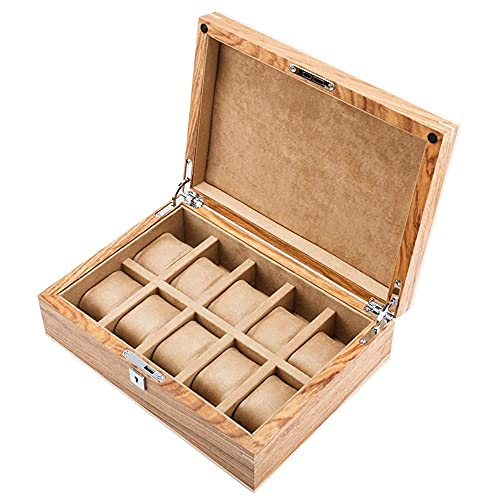 ローズウッド ピュアソリッド ウッド ウォッチ ボックス 機械式ウォッチ ディスプレイ コレクション ボックス ジュエリー ボックス イエロー ウォッチ収納ボックス サンルーフ ロック ウォッチ コレクション ボックス 絶妙な Nice family