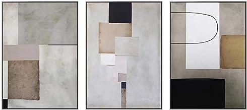 Zhaoyangeng Abstract schilderij, modern, geometrisch, canvasdruk, minimalistische muurkunst, voor woonkamer en huisdecorat...