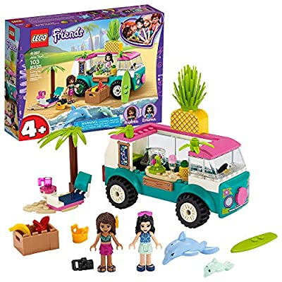 LEGO Friends Juice Truck LEGO Truck 41397 Building Kit; Kids Food Truck Featuring LEGO Friends Emma Mini-Doll Figure, New 2020 (103 Pieces)