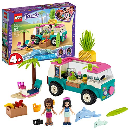 LEGO Friends Juice Truck Truck 41397 Building Kit; Kids Food Truck Featuring Friends Emma Mini-Doll Figure, New 2020 (103 Pieces)