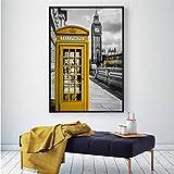 zxkx London Telefonzelle Gelb Bus Poster Regenschirm