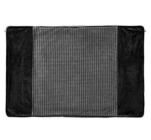 Pecute Ersatzbezüge des Hundebetts Memory Foam (groß, schwarz)