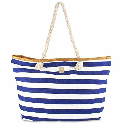 MC-Trend - Bolso de playa de Lona Mujer 59 x 18 x 38 cm