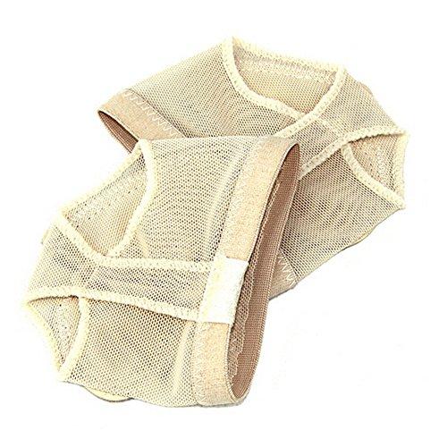 SODIAL(R) Profesional Vientre/Ballet Danza Zapatos de para Dedo del pie Pad práctica pie Tanga protección Dance Disfraz de Calcetines Polainas Accesorios S