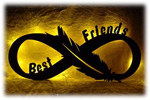 Best Friends LED Geschenk Geschenke für die beste Freundin der Welt zum Geburtstag oder Feier