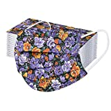 YpingLonk 50PCS Unisex Adultos Protector Bufanda - Moda Universal Lindo Estampado de Flores 3 Capas Elástico Orejeras Suave Mantón para Mujeres Hombres-21130-2