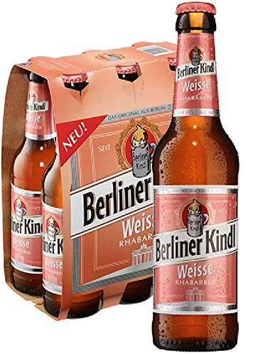 6 Flaschen Berliner Kindl Rhabarber a 0,33l Mischgetränk 3.0% Vol. inc. 0,48€ MEHRWEG Pfand