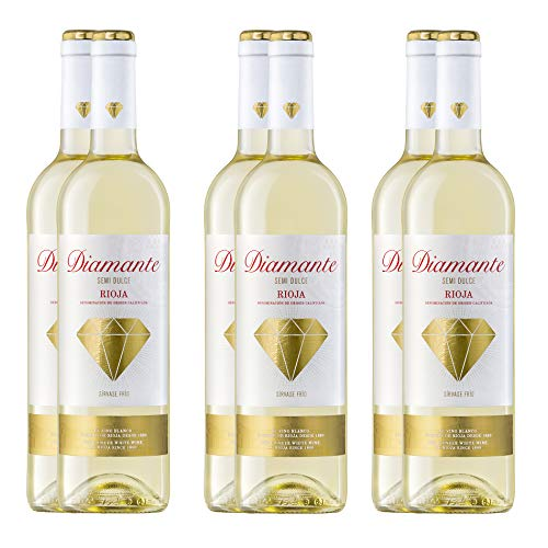 Pack Diamante semidulce Vino blanco D.O.Ca Rioja (6 Botellas)