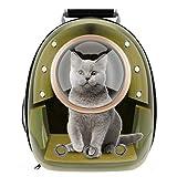 RCRunning-EU Mochila Respirable portátil del Viaje del Animal doméstico,Cápsula Espacial Bolsa Transporte para Perros Gatos Animales pequeños-marrón