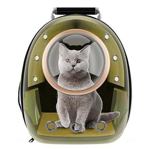 RCRunning-EU Haustier Rucksack Transport Hunderucksack für Hunde und Katzen Raumkapsel transporttasche-Braun