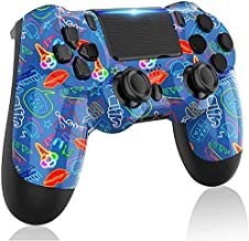 LITTJOY Wireless Game Controller for PS4 Controller, Gyro and Speaker Gamepad Controller Compatible with PS4/PS4 Slim/PS4 Pro (BLUE)