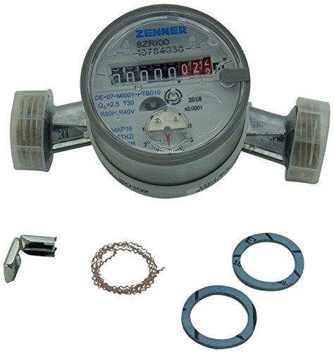 Zenner 146628 Wasserzähler ETKD-M für Kaltwasser Baulänge 130mm / 1 Zoll AG