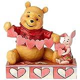 Disney Traditions Handmade Valentines Pooh and Piglet Figurine