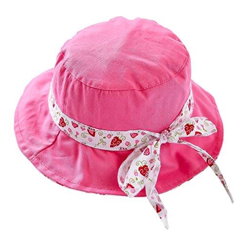 Bigood Chapeau Imprimé Bébé Enfant Coton Pêche Camping Plage Protection Soleil Tour de Tête 52cm