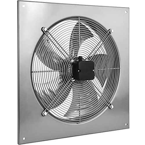 PrimeMatik - Extractor de Aire de Pared de 500 mm para ventilación Industrial 1350 RPM Cuadrado 665x665x95 mm Plateado