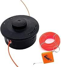 AISEN Doppelfadenkopf mit Tippautomatik Fadenspule M/ähkopf Easy Load f/ür Fuxtec Benzin Motorsense Freischneider Multitool