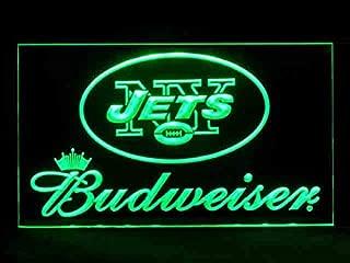 New York Jets Budweiser Led Light Sign