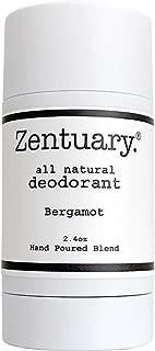 Zentuary Aluminum-Free Natural Deodorant (Bergamot) Works All Day! | 100% Natural | Alcohol Free, Cruelty Free & Aluminum Free Deodorant | for Women, Men & Kids