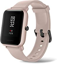 Amazfit Bip Lite by Huami with 45-Day Battery Life,24/7 Heart Rate 1.2 Inch Always-on Touchscreen 3 ATM, Pink