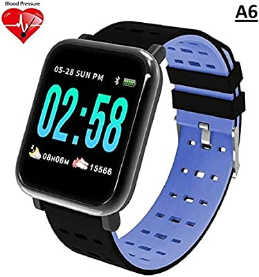 AYL A6 IP67 Waterproof Activity Tracker Heart Rate Monitor Bracelet Wristband Watch for Mens/Activity Tracker/for Android iOS (Blue)