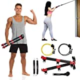 TENSION TONER - Develop Total Muscle Definition & Strength - Over 70 Full Body Exercises - Patented Home Gym System - Best Traveling Gym (Basic - 2 Bands)