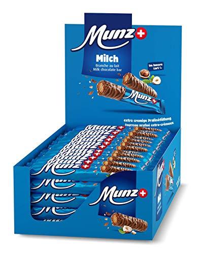Schweizer Schokolade | MUNZ Prügeli Milch | Branches Classic | 60 Praliné Schokoladenriegel á 23g im Thekendisplay | 1,38kg Großpackung | Maestrani Milchschokolade | Glutenfrei