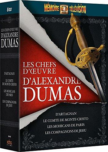 Coffret Les chefs d'oeuvre d'Alexandre Dumas (Le Comte de Monte-Cristo + + Les compagnons de Jehu + Les mohicans de Paris + D'A