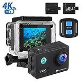 IceFox Action Cam 4k, Ultra FHD Unterwasserkamera 30M, 2' LCD 170°Ultra Weitwinkel Helmkamera...