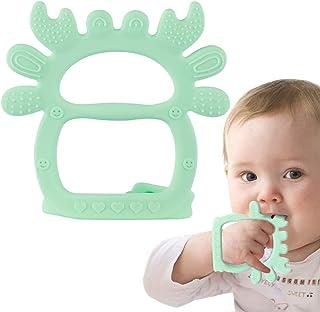 Juguete para dentición de bebé Airsnigi, juguete de silicona sin BPA para dentición para bebés de 0 a 6 meses, juguete mordedor de cangrejo verde para bebés, pulsera ajustable, alivio de dentición para bebés de 3 4 5 6 7 8 9 10 11 12 meses