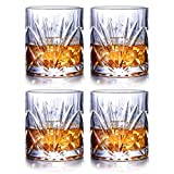 JASVIC Whisky Gläser 4er Set, 300ml Gläsersets Kristall Whisky Glas Becher, 100% bleifreies Scotch...