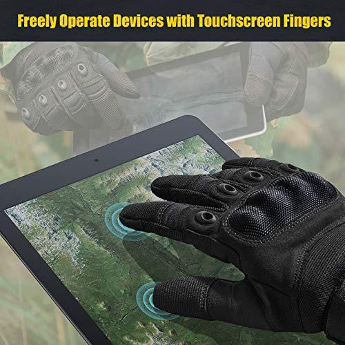 [Sport Handschuhe] FREETOO Motorrad Handschuhe Herren Vollfinger Army Gloves Ideal für Airsoft, Militär,Paintball,Airsoft, lebenslange Garantie - 5